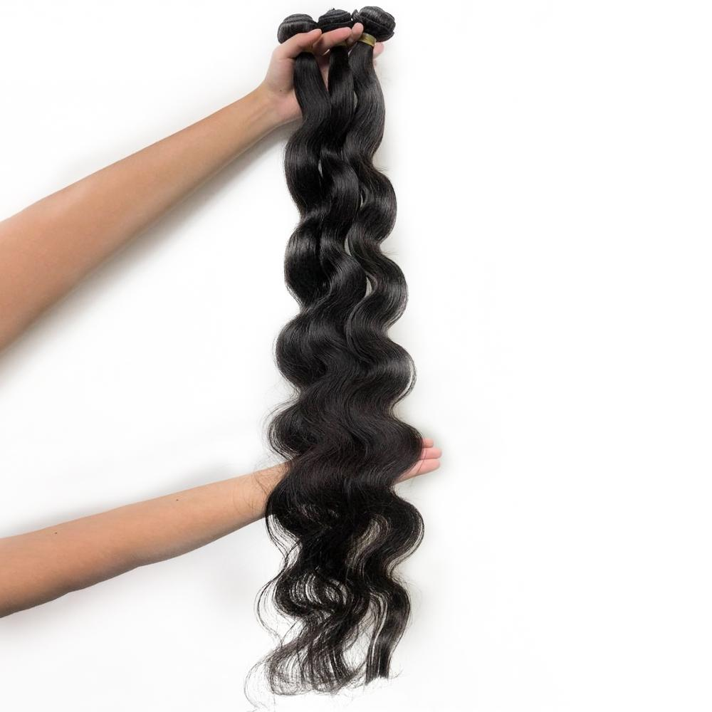 30inches Unprocessed Raw Long Hair Bundles Brazilian Virgin Hair Body Wave Human Hair Double Drawn Middle Ratio