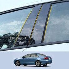 Для Volkswagen VW Sagitar 2012-2018, автомобильный поликарбонатный материал, столб, крышка двери, отделка окна, пианино, черная наклейка для формования