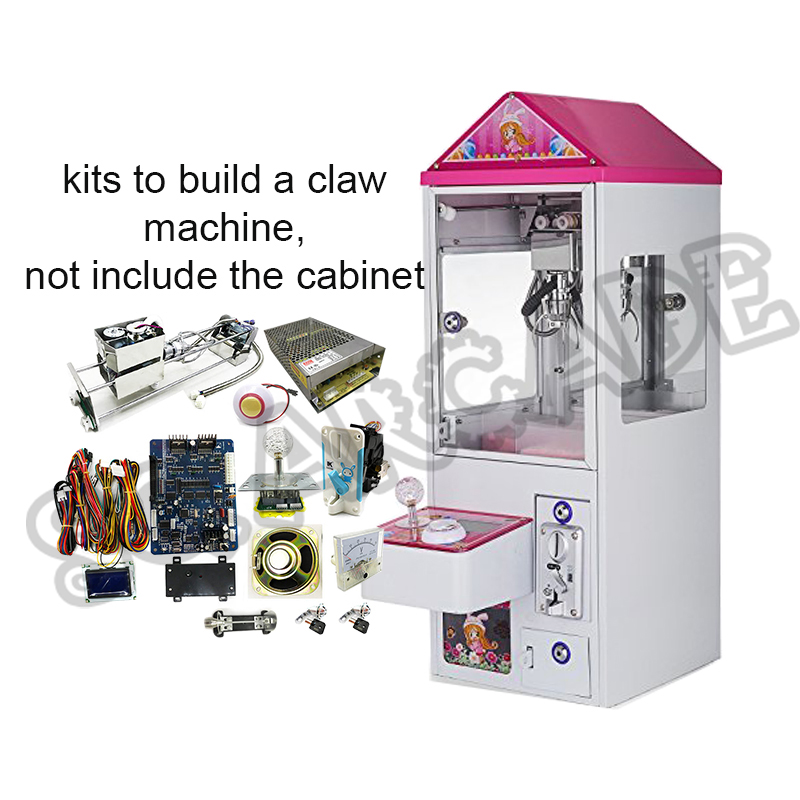 25.7CM Mini Claw Crane Machine DIY Kit For arcade Crane Game PCB Slot Game Board coin acceptor, buttons, harness ,claw etc