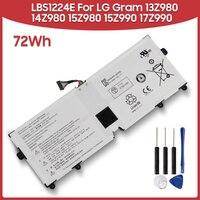 Original Replacement Battery 72Wh LBS1224E For LG Gram 13Z980 14Z980 15Z980 15Z990 17Z990 72Wh Laptop Batteries