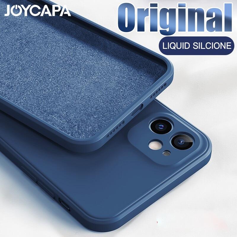 Custodia morbida originale per iPhone 11 12 Pro Max 7 8 6 6s Plus 12 mini custodia in Silicone liquido per XR X XS Max SE 2020 Cover antiurto 1