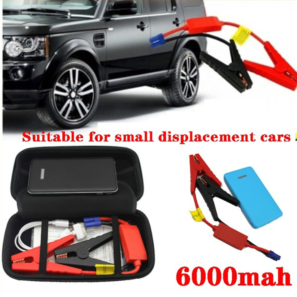 12V Portable 6000 mAh Car Jump Starter Emergency Battery Charger Power Bank for Devices Portable Car Booster Auto Car