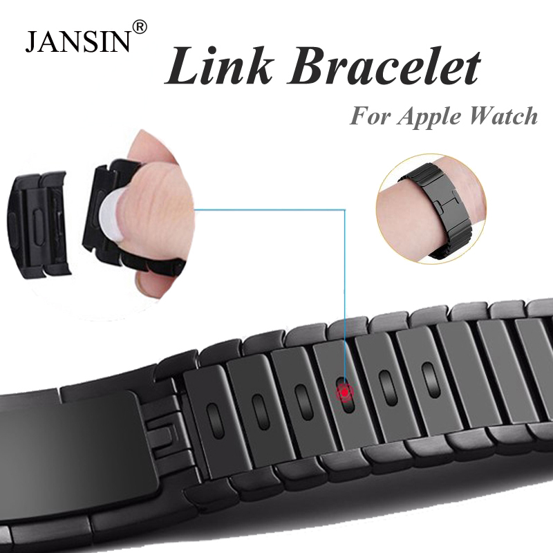 Link Bracelet Strap For Apple Watch Series 4 3 2 1 Iwatch Band 42mm 38mm 40mm 44mm Bracelet Apple Watch Stainless Steel Strap
