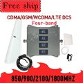 HEIßER! 850 900 1800 2100mhz Handy Booster Vier-Band GSM Handy Signal Booster 2G 3G 4G LTE Cellular Repeater GSM DCS WCDMA