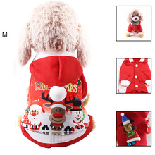 a dog for christmas Christmas Dog Clothes Winter Autumn Red Coat Clothing Santa Pattern Costume Pet Dog Christmas Clothes Cute Puppy Outfit For Dog