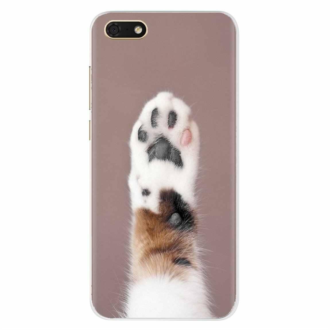 Kot pazur nadruk zwierzęta spersonalizowane silikonowe etui na telefon do Sony Xperia XA Z Z1 Z2 Z3 Z5 XZ1 XZ2 kompaktowy M2 M4 M5 C4 C6 E3 T3