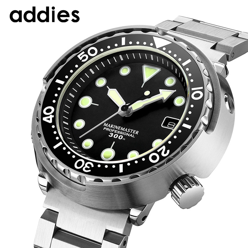 -Fully Automatic Machinery Diving Watch C3 Night Light Sapphire Glass Nh35a Movement Can Men's Steel Timepiece