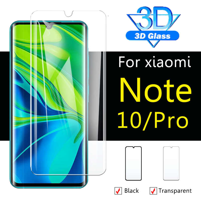 מגן זכוכית על לשיאו mi mi note10pro 10pro הערה 10 פרו screenprotector ksio mi xiaome שיה mi מזג גלאס 3d מעוקל מקרה