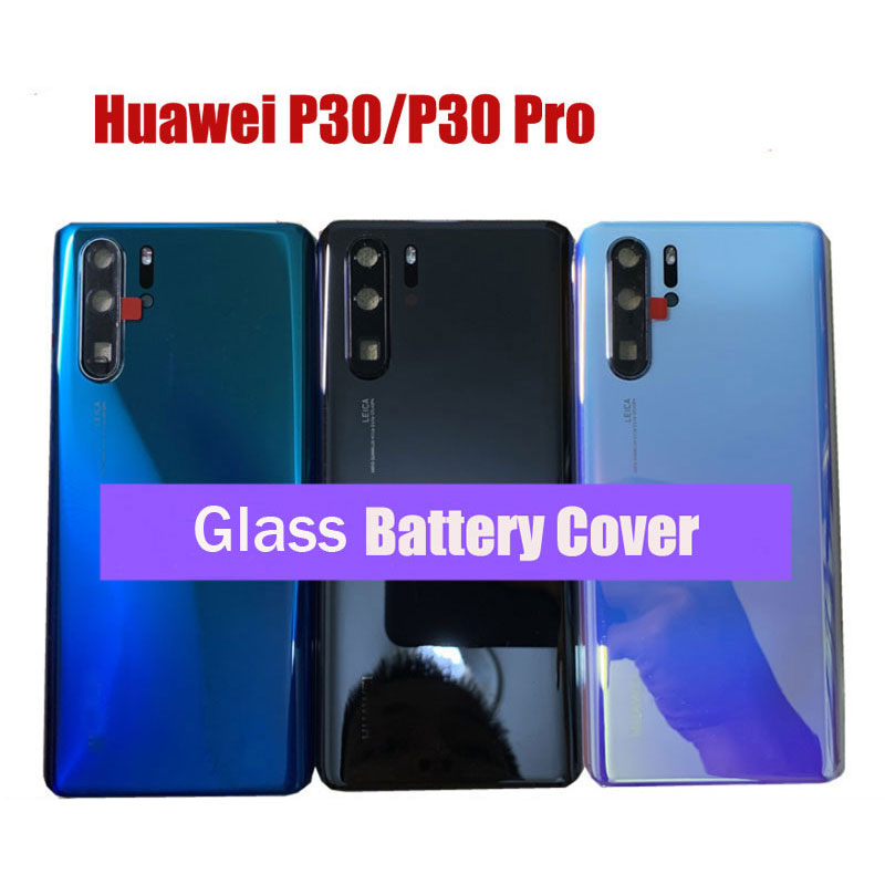 Back <font><b>Cover</b></font> For <font><b>Huawei</b></font> <font><b>P30</b></font> Back <font><b>Battery</b></font> <font><b>Cover</b></font> Rear Glass Housing For <font><b>Huawei</b></font> <font><b>P30</b></font> Pro Repair Parts+Camera Frame+Lens Flash image