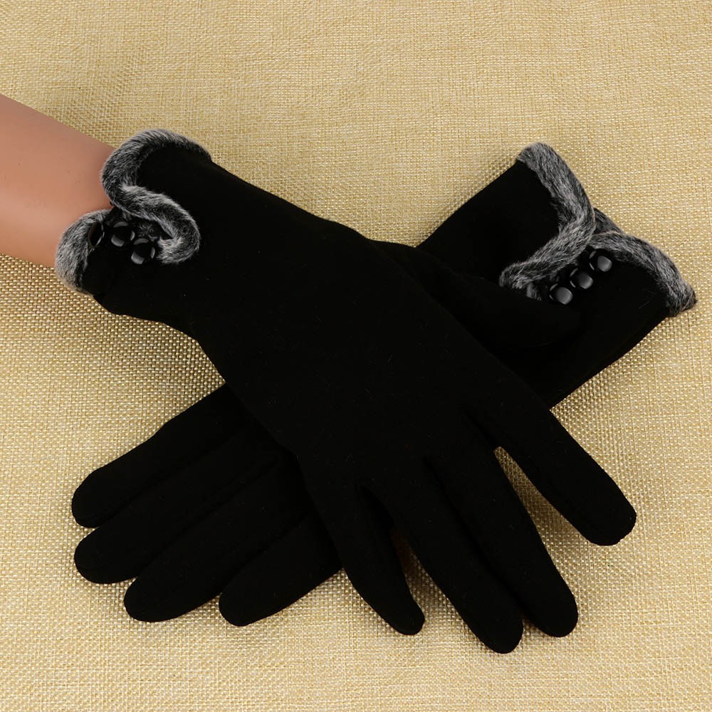 Gloves Winter Warm Novelty Women Cashmere Keep Warm Driving Full Finger Gloves Screen  перчатки Guantes De Otoño E Invierno.