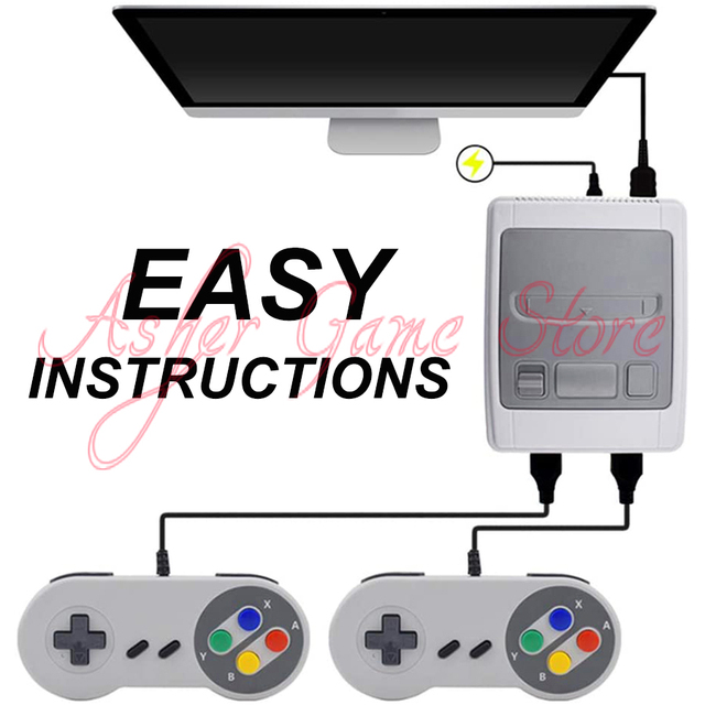 Super SNES Video Game Console with 621 Retro Classic Games HDMI Output HD Family TV 8 Bit 2 Mini Handheld Game Player Gamepad 4