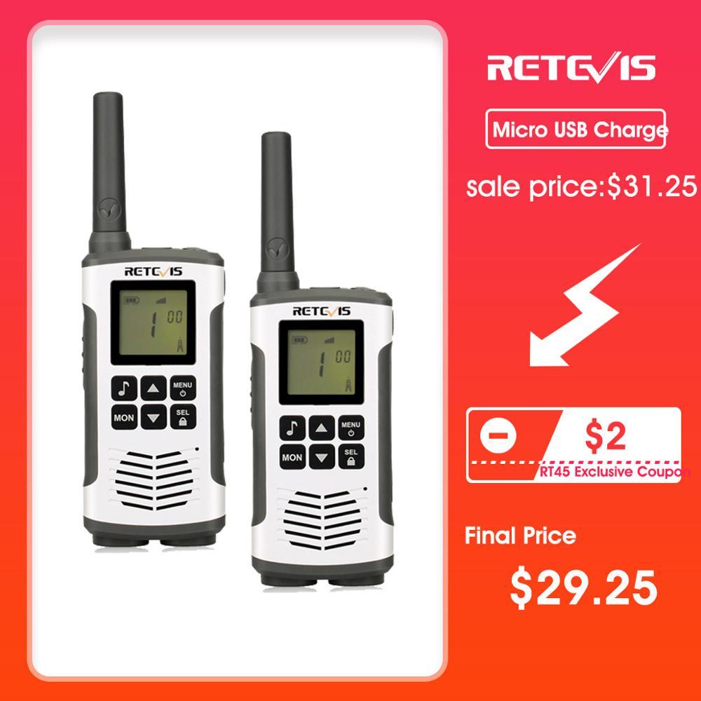 Retevis RT45 PMR Radio Walkie Talkie 2 pcs PMR PMR446 FRS Handy Two-Way Radio Communicator Family Walkie-Talkie Walkie-talkies