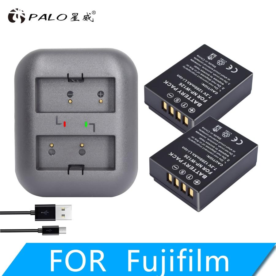 NP-W126 USB Doble Cargador De Batería Para Fujifilm X-PRO2 X-T30 X-T20 X-T3 X-T2 X100F