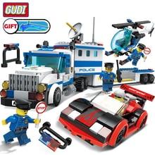 City Police Series Building Blocks Helicopter Figures Block Assembled Legoingly DIY Bricks Educational Children  Gift