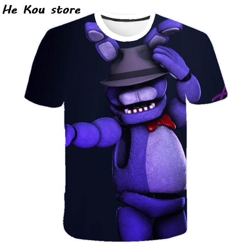 Camiseta de cinco noches en Freddy para niños y niñas, camiseta de manga corta a la moda, 2021