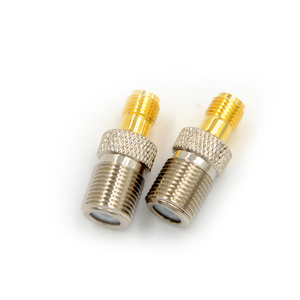 F Type Female Jack RF Coax Adapter To SMA Female Plug Straight F To SMA Convertor F Female to SMA Female Connector