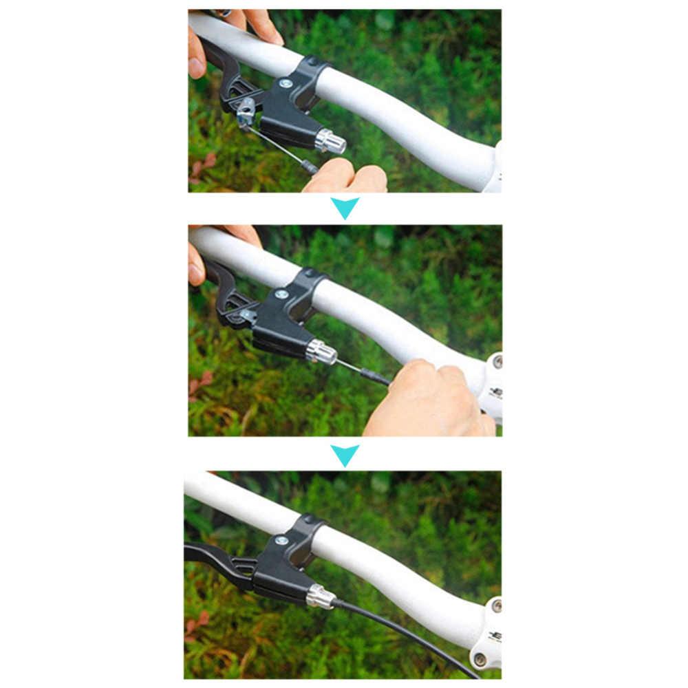 1 Pair evrensel tam alüminyum alaşım yol MTB dağ bisikleti el freni kolu silikon katlanır jel kolu fren açık sürme