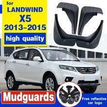 Front Rear Car Mud Flap For LANDWIND X5 2013-2015 2014 Mudflaps Splash Guards Mud Flap Mudguards Fender молдинги loyal guards 14 x5
