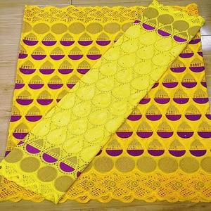 Image 1 - Afrika Net dantel kumaş 2020 yüksek kalite fransız % 100% pamuk nakış Bazin Riche Getzner dantel kumaşlar 2.5 + 2.5 metre/Lot A19371