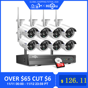 Image 1 - 2MP 1080P CCTV System 8ch HD Wireless NVR kit 3TB HDD Outdoor IR Night Vision IP Wifi Camera Security System Surveillance Hiseeu