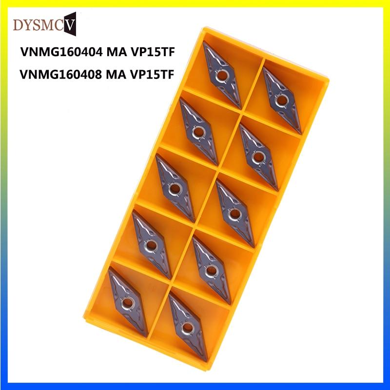 10PCS VNMG160404 MA VP15TF External Turning Tool Carbide Insert VNMG 160408 VP15TF CNC Machine Tool Indexable Tool