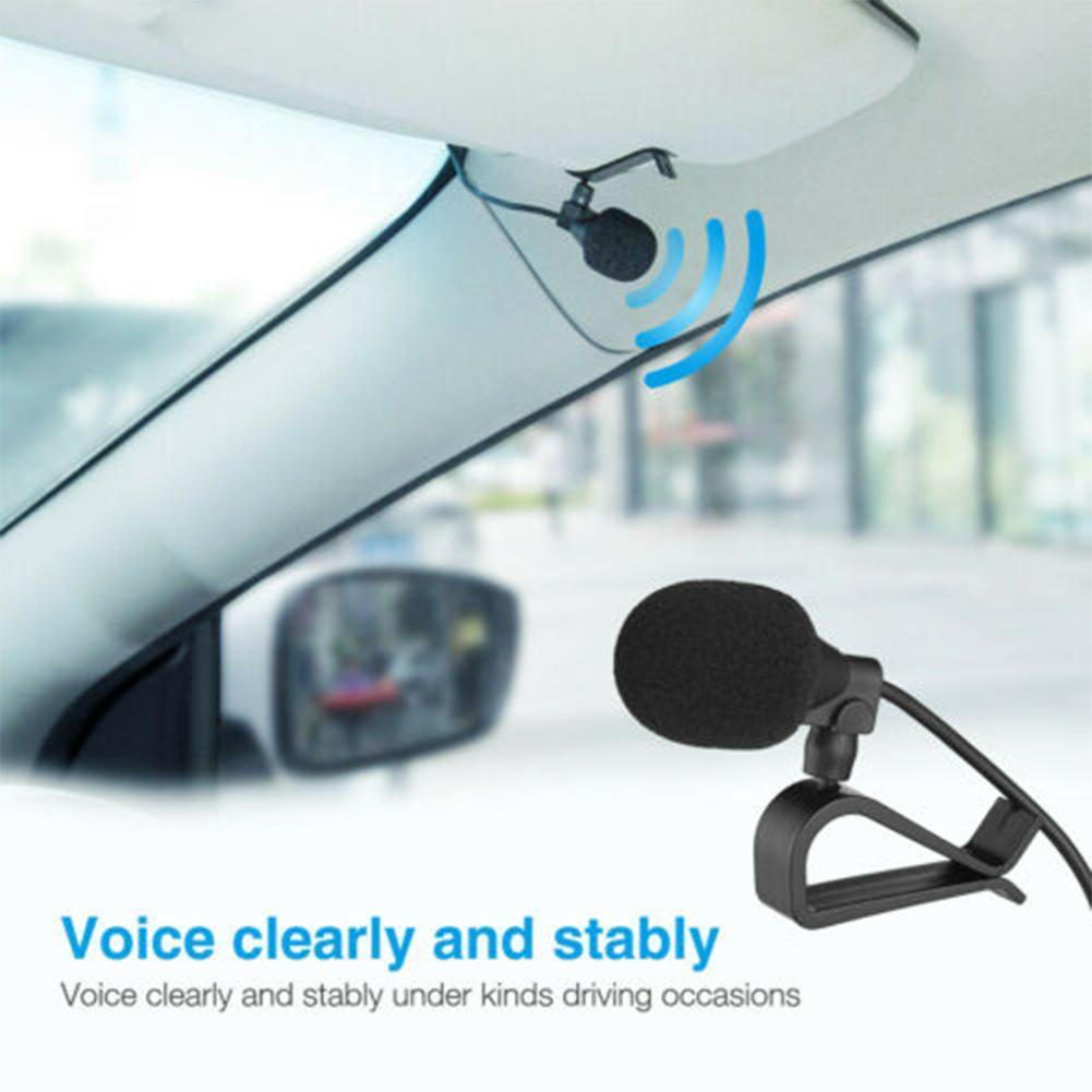 Car Audio Microphone clip jack plug stereo For car mini radio wired professionals external DVD