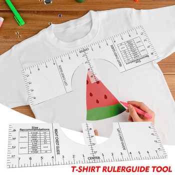 T-shirt Alignment Tool - T Shirt Ruler Guide T-shirt Vinyl Guide - Sublimation Lineal For Tøjjustering image