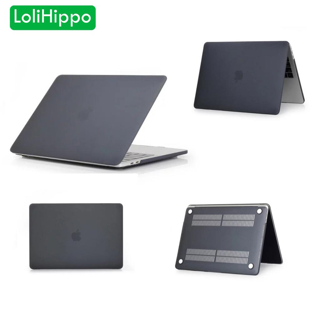 LoliHippo Matte Laptop Protective Case Solid Plane Frosted Notebook Cover For Apple Macbook New Air 12 13.3 Inch Pro 13 15 Inch