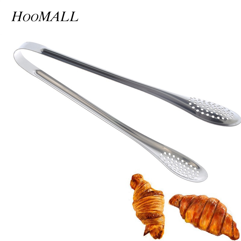 Cooking Barbecue Anti-heat Buffet Clamp Food Clip Stainless Steel BBQ Tongs