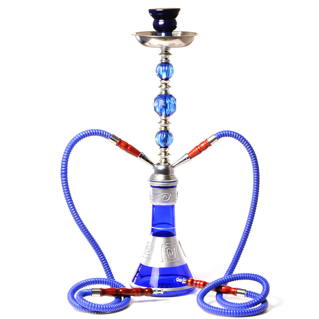 Double Hose Hookah with Pipe  4