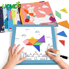 Magnetic Geometric Puzzles Toys Colorful 3D Tangram Game Brain Teaser Intelligent Learning Educational Funny Toy Gift for Kids