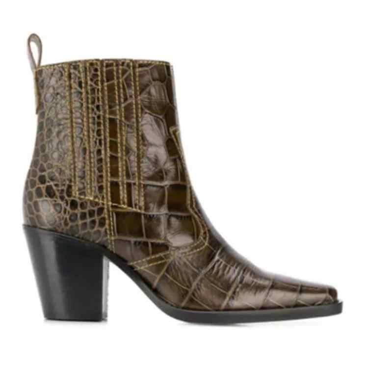 Chelsea Stiefel Frauen Braun Blau Schwarz Weiß Leder Botas Mujer Chic Nähen Linie Damen Booties Slip Auf Winter Stiefel Schuhe marke