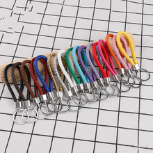 100Pcs / Set of Key Ring Accessories Leather Alloy Family Car Bag Manual DIY Decorative Chain Wholesale