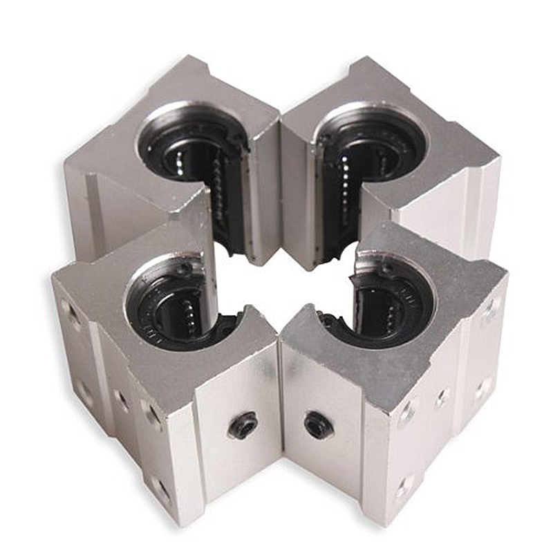Promotion! 4 x SBR12UU 12mm Aluminum Linear Motion Router Bearing block, silver