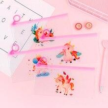 Bag School Organizer Stationery-Storage Colorful Kawaii Pencil-Bag Unicorn Office-Supply