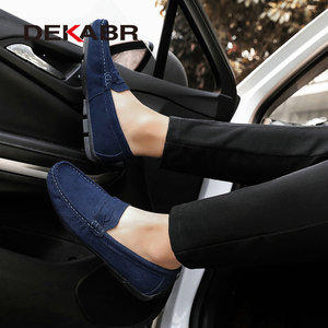 Image 5 - DEKABR Hot sale Brand Men Loafers Mens Casual Shoes Suede Leather Moccasins Breathable Slip on Boat Shoes Chaussures Hommes