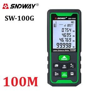 SNDWAY Laser Distance Meter Digital Rangefinder 100m 70m 50m Range Finder Trena Tape Measure Electronic Level Ruler Roulette(China)