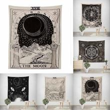 Meijuner Divination Horoscope Tapestry Sun Star Moon Wall Hanging Living Room Bedroom Tapestry Home Decoration