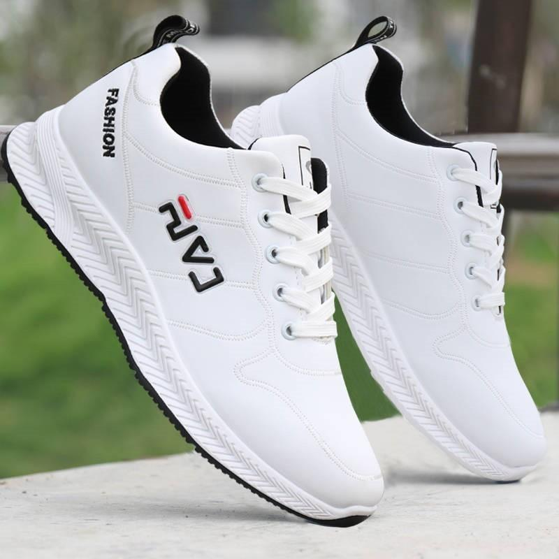 Mens Sneakers 2020 PU Leather Sports Shoes White Sport Running Shoes For Men Athletic Shoes Jogging Trainers Man Casual Footwear