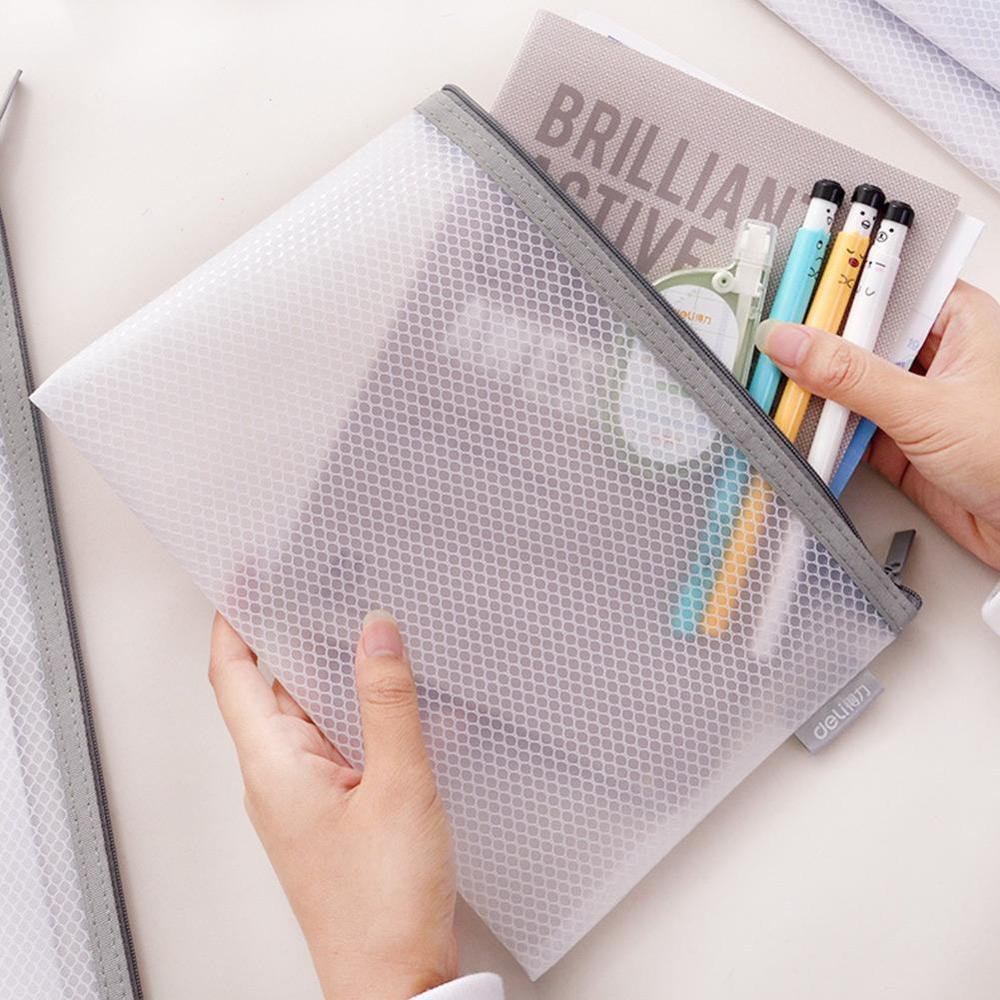1pcs Office Zipper File Folder Bag A4/A5 Transparent Student Children Supplies Office Bag Stationery Gifts School Storage K3O6