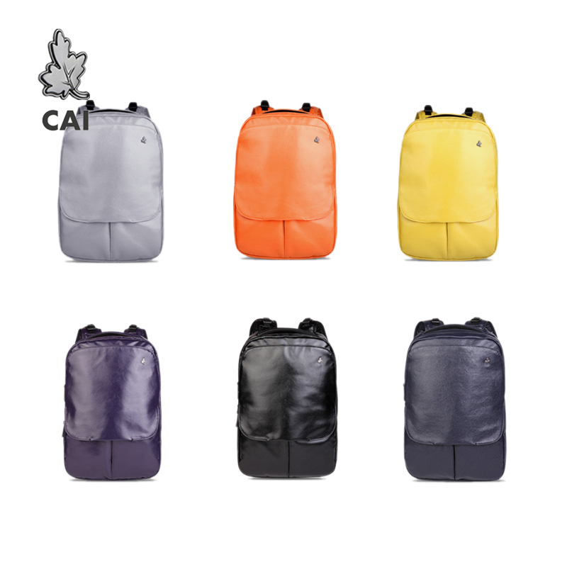 Fashion PU Smooth Coating Waterproof Bag College Teens Girl 13 Inch Laptop School Backpack Women/Men Travel Backpack Bookbag
