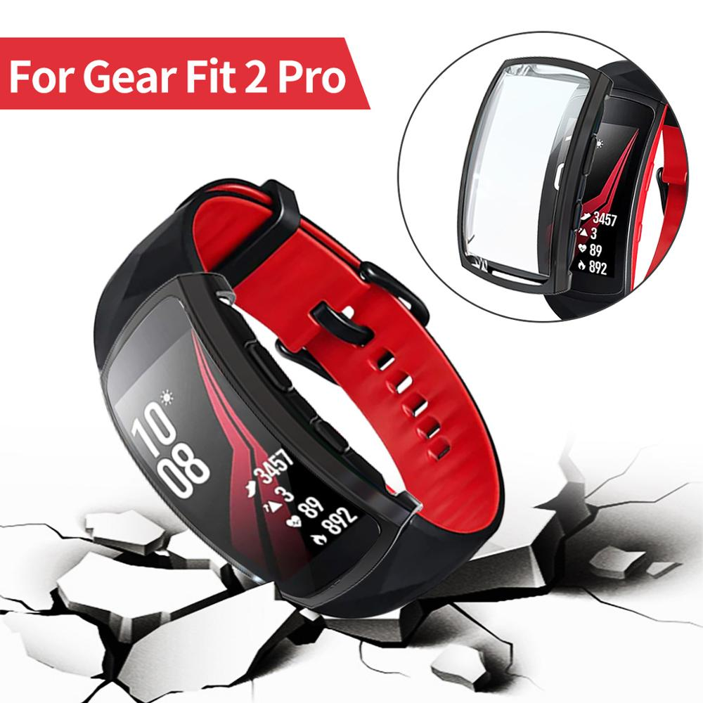 Soft Scratch-resistant Full Watch Case for Samsung Gear Fit 2 Pro Cover SM-R360/R365 Screen Protector Shell Bumper Accessories