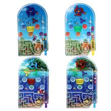 Mini jeux de bureau Pinball, Machine de dessin animé, cadeaux pour enfants, jouet éducatif labyrinthe, perles, éjection, Interaction entre amis aléatoire