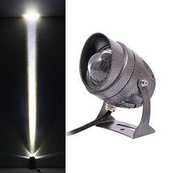 Diodo emissor de luz do gramado 3w 10 arruela da parede à prova dwaterproof água holofotes feixe estreito lâmpada ponto ao ar livre paisagem iluminação AC100-240V dc12v