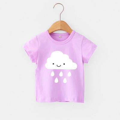 VIDMID Baby girls t-shirt Summer Clothes Casual Cartoon cotton tops tees kids Girls Clothing Short Sleeve t-shirt 4018 06 19