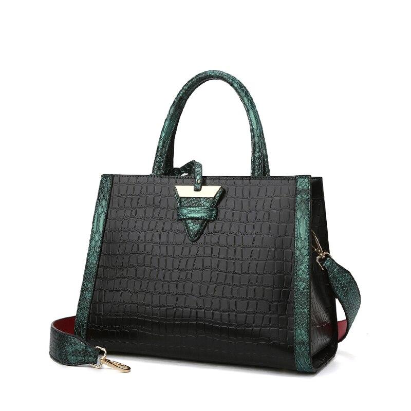 2020 Vrouwen Handtas Vrouwen Lederen Handtassen Tassen Voor Vrouwen Tassen Designer Luxe Handtassen Krokodil Lady Hand Tassen Bolsa Feminina|Top-Handle tassen|   - AliExpress
