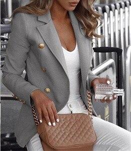Women Autumn Winter Clothes Business Jacket Plus Size 4XL Casual Vest Femme Slim Button Ladies Lapel Feminino Luxury Coat