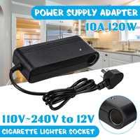 10A 120W Power Supply Adapter AC 110V/220V to DC 12V Cigarette Socket For Home Applicant
