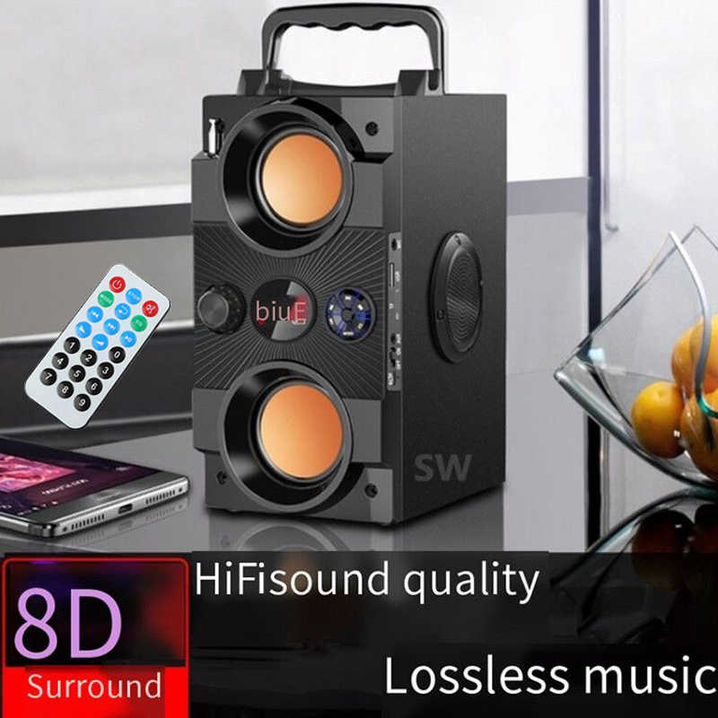 40W Big Power Portable Bluetooth Speaker Outdoor Nirkabel Subwoofer Boombox Kolom Suara Musik Pusat Dukungan AUX TF FM Radio