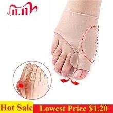 1 par de calcetines hueso grande ortopédicos juanete corrección de Corrector de Hallux Valgus aparato separadores de dedos de cuidado de los pies herramienta
